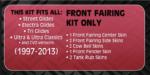 Front Fairings 1997-2013